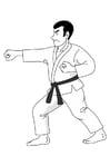 Kleurplaat judo
