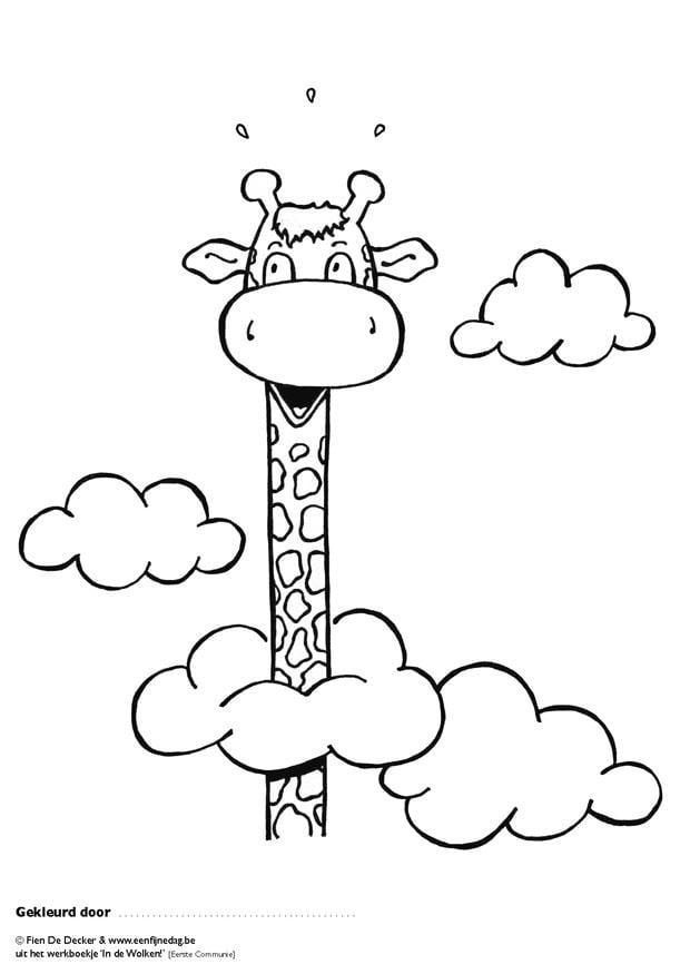 kleurplaten juul de giraf