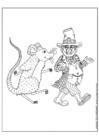 Kleurplaat kabouter en de muis