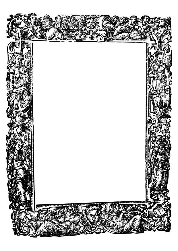 Kleurplaat Middeleeuwen Kleurplaat Kader Middeleeuwen Afb 27415