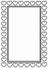 Kleurplaat kader Valentijn