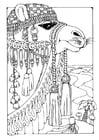Kleurplaat kameel