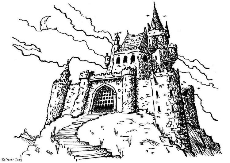 Kleurplaten Ridders Kastelen.Kleurplaat Kasteel Afb 18466
