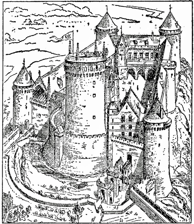 Kleurplaat kasteel van coucy afb 18474 for Werkbladen ridders en kastelen