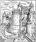Kleurplaat kasteel van Coucy