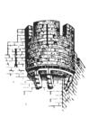 Kleurplaat kasteeltoren