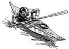 Kleurplaat kayak
