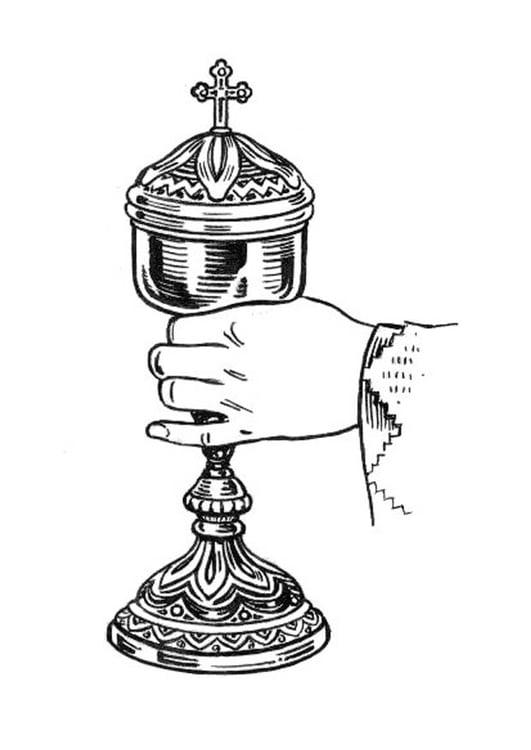 Kleurplaten Eucharistie.Kleurplaat Kelk Afb 18927