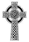 Kleurplaat keltisch kruis