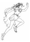 Kleurplaat keltisch meisje