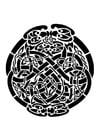 Kleurplaat keltisch motief