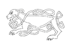 Kleurplaat keltische hond