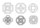 Kleurplaat Keltische knopen