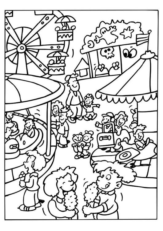 Kleurplaat Kermis Afb 6514
