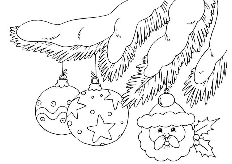 Kleurplaat Kerstballen Afb 23375
