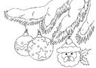 Kleurplaat kerstballen