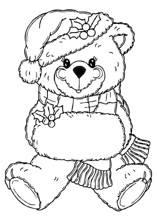 Volwassen Kleurplaten Kleuren Kleurplaat Kerstbeer Gratis Kleurplaten Om Te Printen