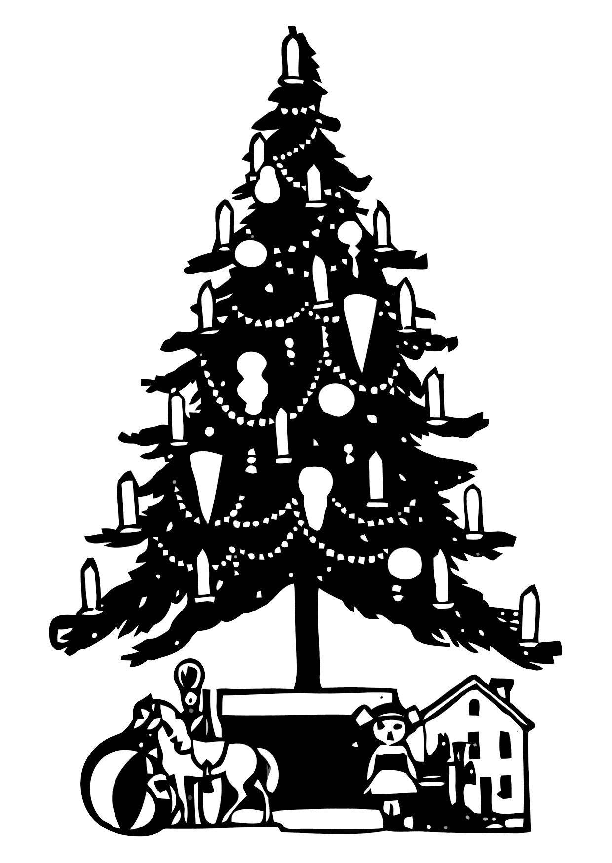 Grote Kleurplaten Kerstboom.Kleurplaat Kerstboom Gratis Kleurplaten Om Te Printen