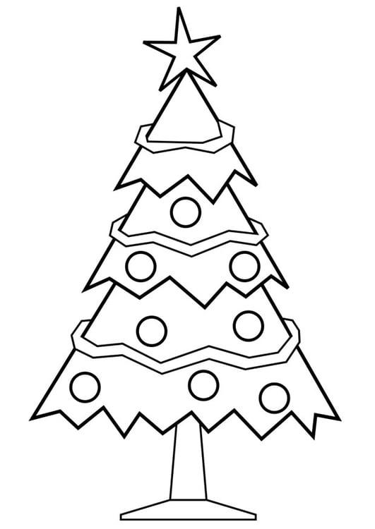 Kleurplaat Kerstboom Afb 28167