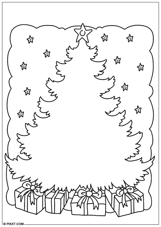 Kleurplaat kerstboom afb 28179 - Arbol de navidad para colorear ...