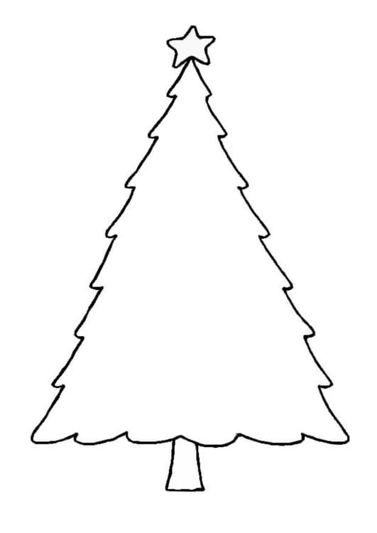 Kleurplaat Kerstboom Afb 8654