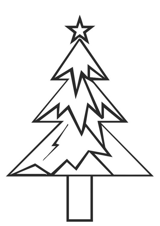 Kleurplaten Printen Kerstster Tekening.Kleurplaat Kerstboom Met Kerstster Gratis Kleurplaten Om Te