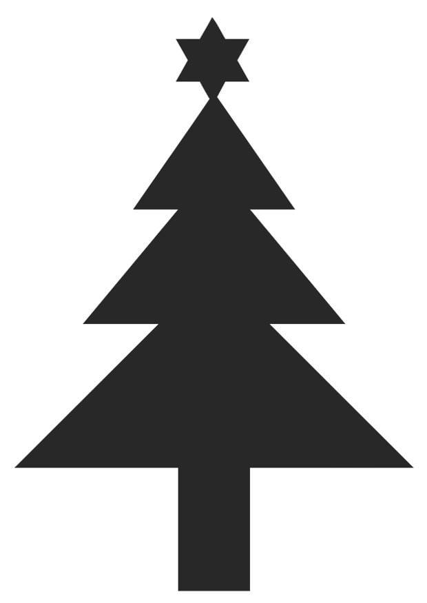 kleurplaat kerstboom met ster gratis kleurplaten om te