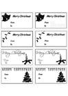 Kleurplaat kerstgeschenk kaartjes