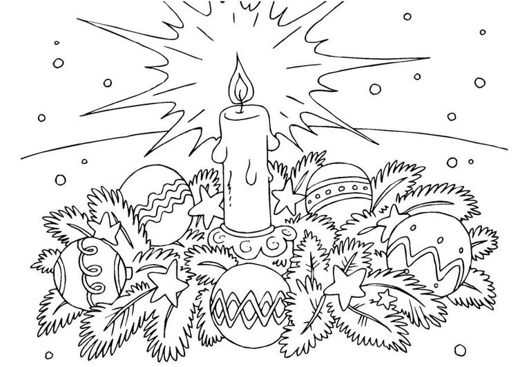 Volwassen Kleurplaat Ster Kleurplaat Kerstkrans Afb 23377