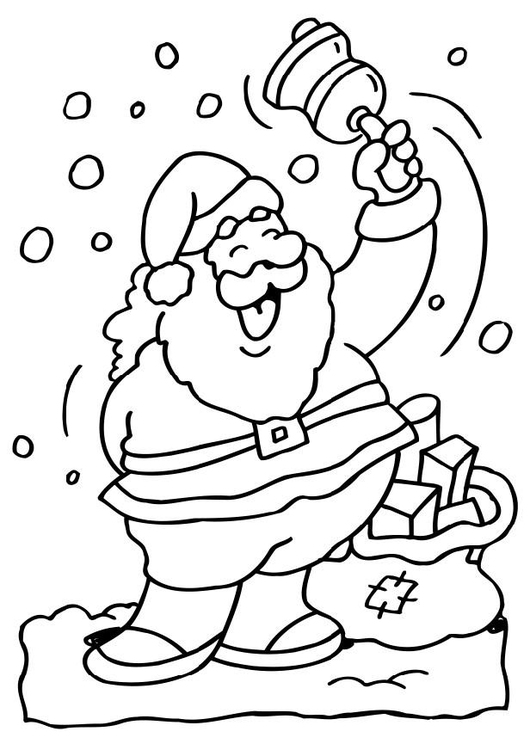 Kleurplaten Kerstman.Kleurplaat Kerstman Afb 6517