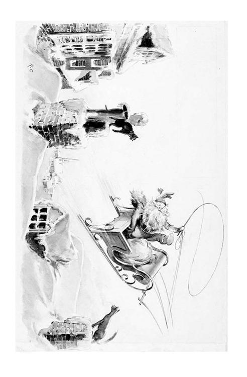 Kleurplaat Sneeuwpop Kerst Kleurplaat Kerstman In Slee Afb 20518