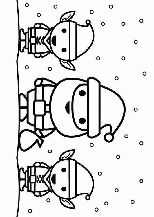 Kleurplaat Kerstman Met Elfjes Afb 26444