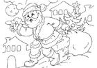 Kleurplaat kerstman