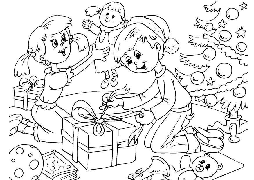 Kleurplaat Kerstmis Afb 23058