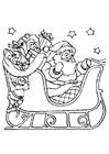 Kleurplaat kerstslee