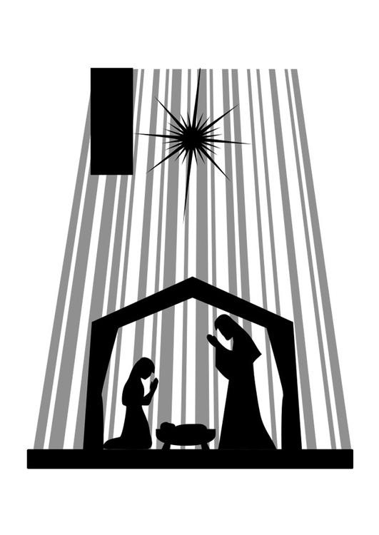 Kleurplaat Jezus Kerst Kleurplaat Kerststal Afb 29100