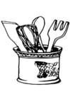 Kleurplaat keukengerief