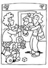Kleurplaat kinderopvang - kleurterklas