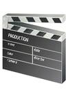 Kleurplaat klapbord - film