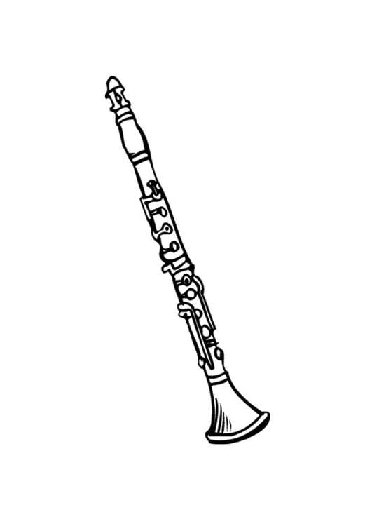 kleurplaat klarinet 2 gratis kleurplaten om te printen