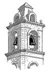 Kleurplaat klokkentoren - belfort