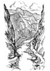 Kleurplaat kloof - canyon