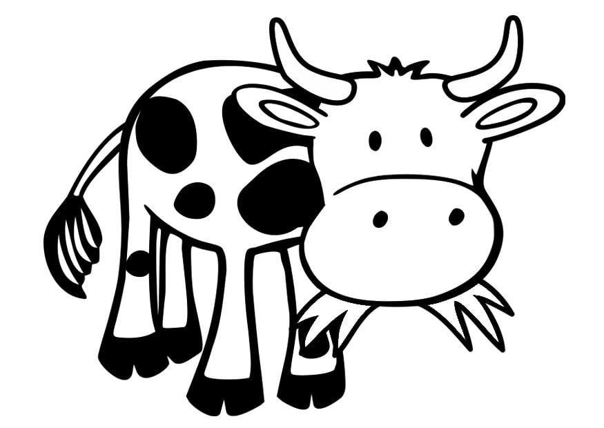 Kleurplaten Dieren Koeien.Kleurplaat Koe Cartooning Boerderij