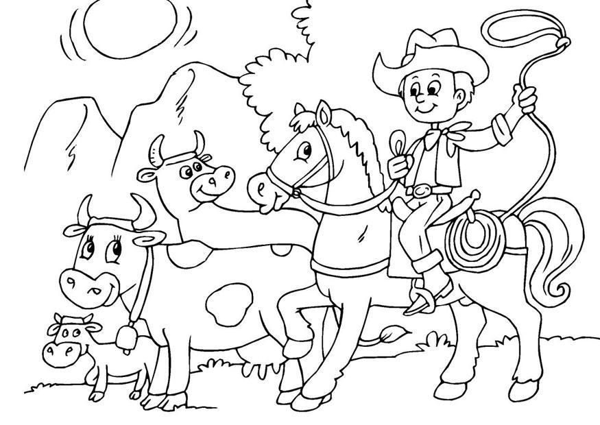 Afbeeldingen Kleurplaten Paarden Kleurplaat Koeien Hoeden Afb 25969