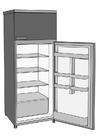 Kleurplaat koelkast