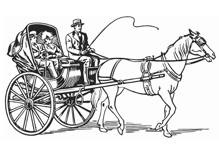 Kleurplaten Paarden Met Koets.Kleurplaat Koets Afb 18767