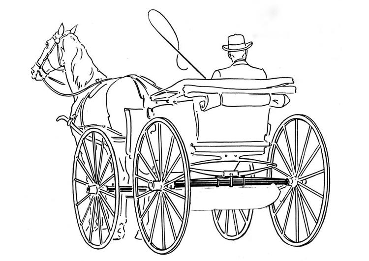 Kleurplaten Paard En Koets.Kleurplaat Koets Afb 18771