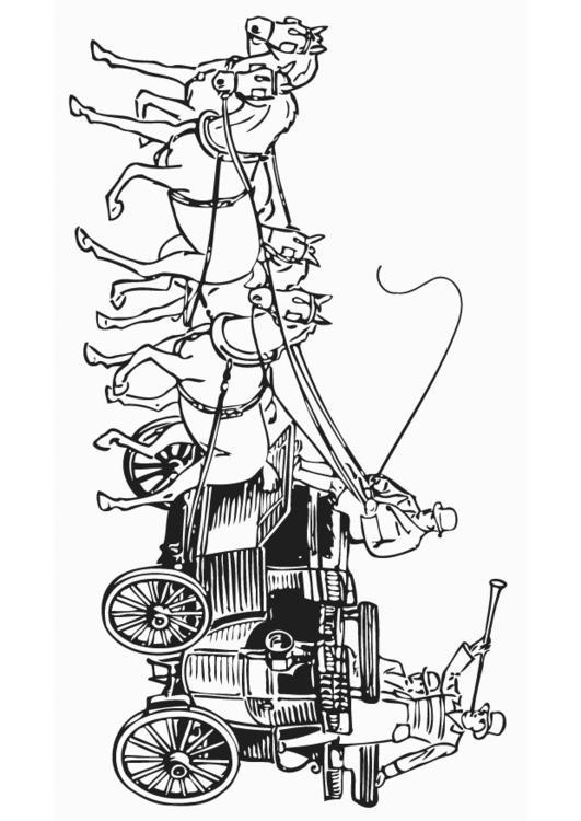 Kleurplaten Paard En Koets.Kleurplaat Koets Afb 18770