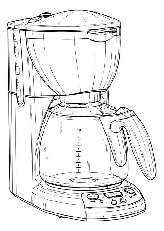 kleurplaat koffiezetapparaat gratis kleurplaten om te
