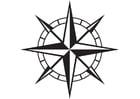 Kleurplaat kompas